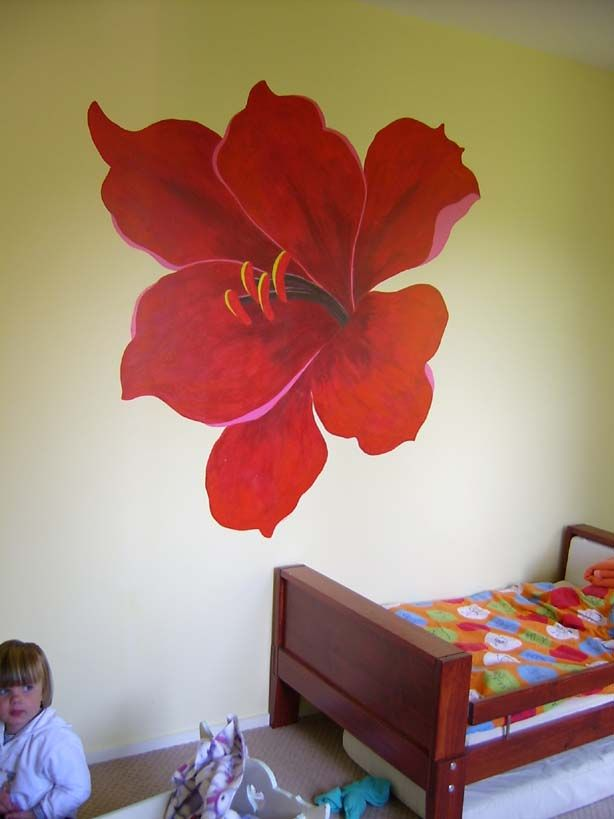Giant flower mural paint colors pinterest for Mural of flowers