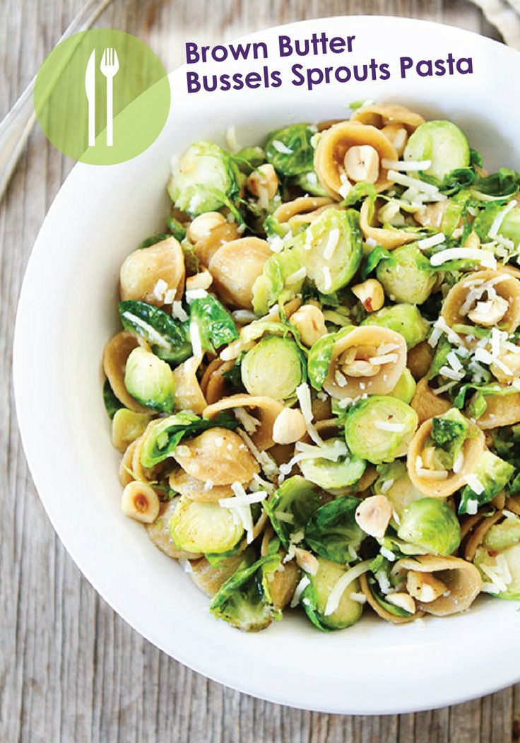 Brown Butter Brussels Sprouts Pasta with Hazelnuts | Recipe