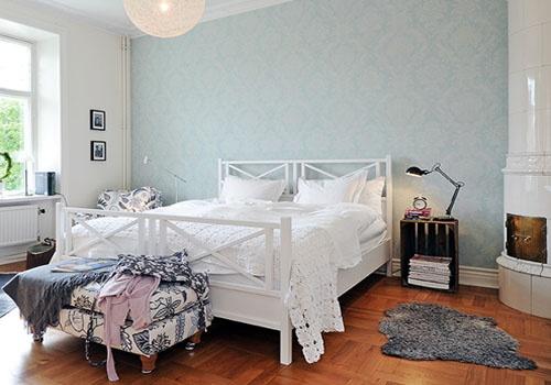Decoracion De Interiores Dormitorios ~ Decoraci?n dormitorio n?rdico, mesita con caja de fruta ? Nordic
