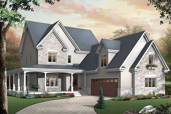 Farmhouse Plan With Wraparound Porch