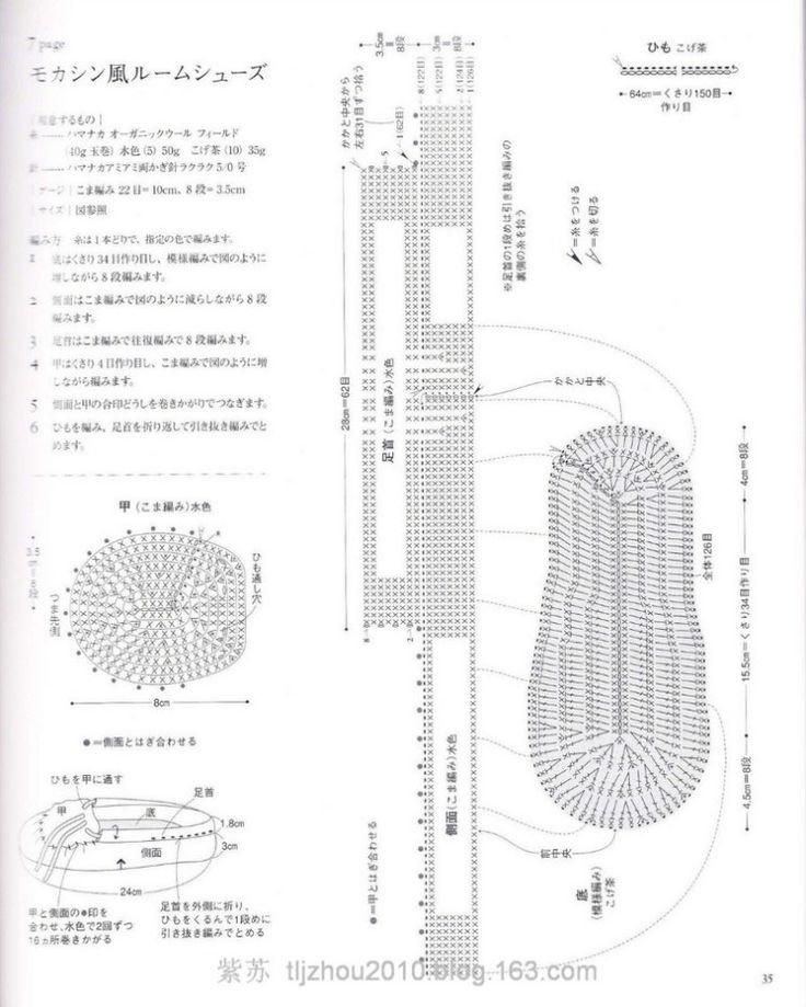 Номер крючка для вязания тапочек 87