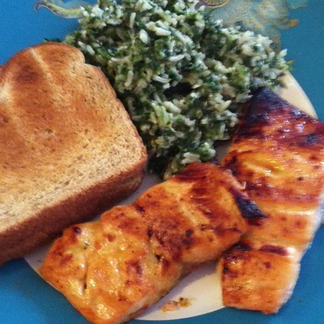 Honey Dijon glazed salmon with brown basmati rice with spinach ...