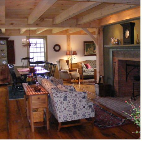 Primitive american colonial interior design joy studio for Primitive house plans