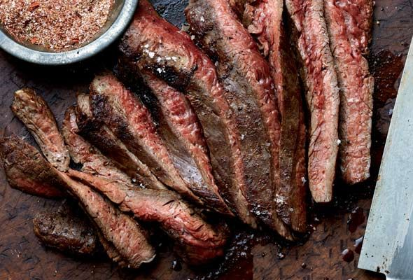 Grilled Flank Steak With Chile Spice Rub from Leite's Culinaria