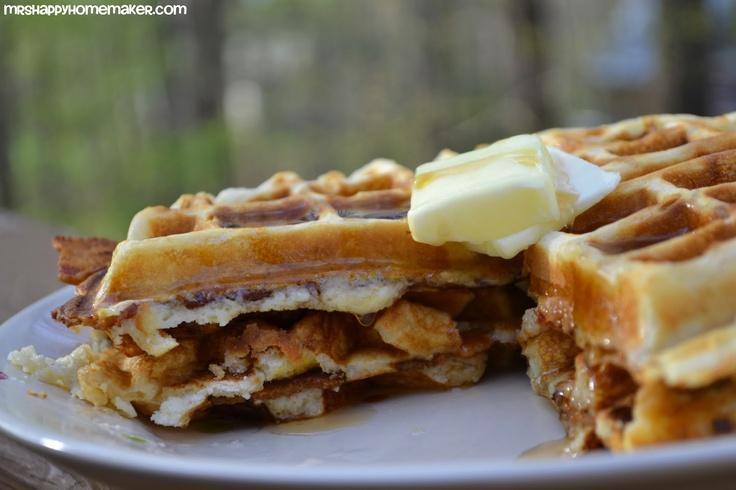 Brown Sugar Bacon Stuffed Waffles | Yummy Keepers | Pinterest