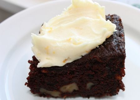 Zucchini Double Chocolate Cake with Cream Cheese Frosting