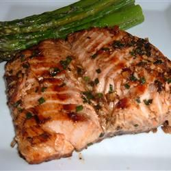 salmon in a sesame soy ginger marinade.  pinner said: this marinade had me licking my plate clean!