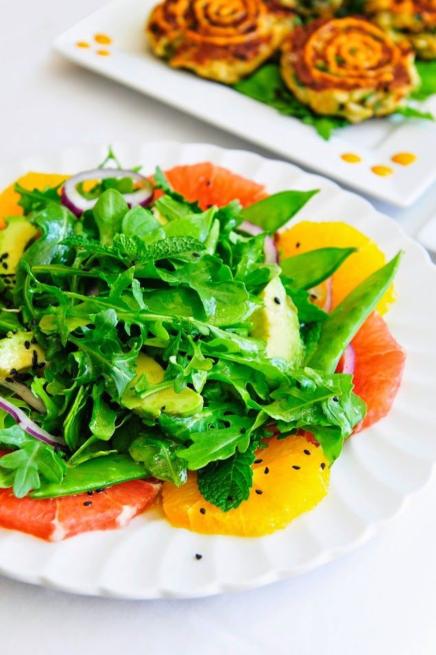 Avocado Citrus Salad with a Toasted Sesame Seed Dressing | feast ...