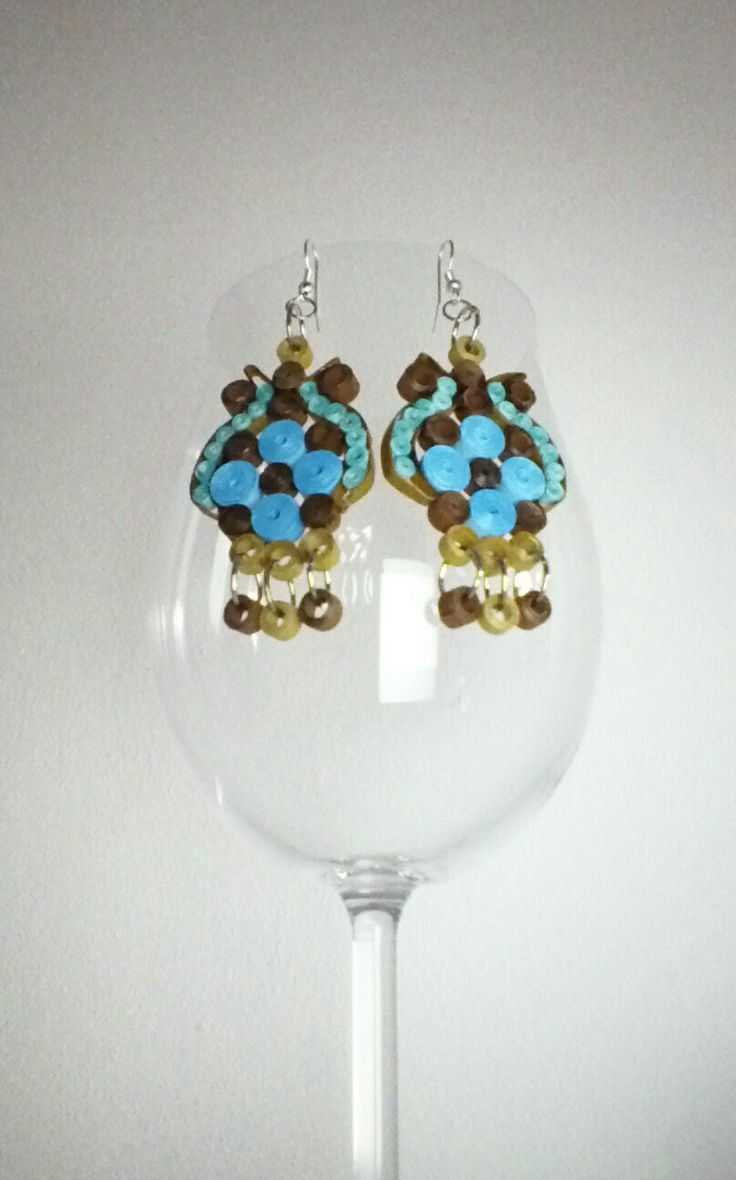 Earrings, quilling. Mami