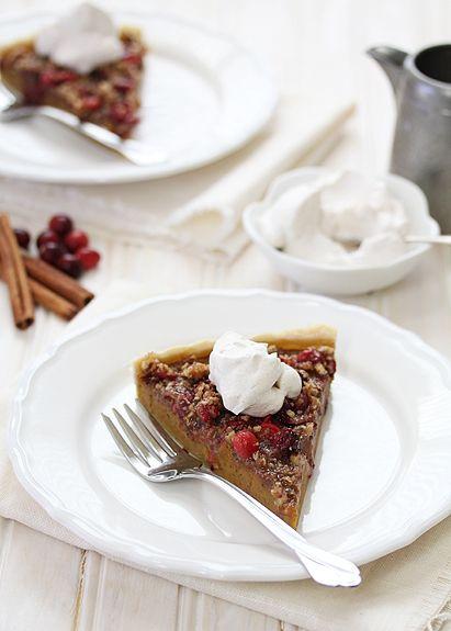 Cranberry Pecan Pumpkin Tart from Good Life Eats (http://punchfork.com ...