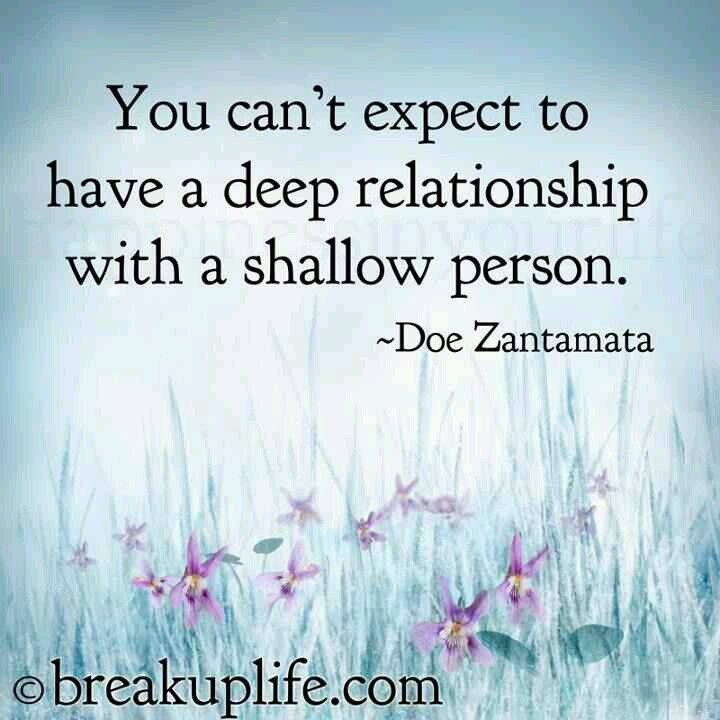 a deep relationship with