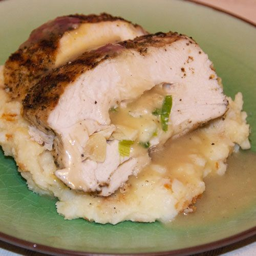 Roasted Garlic Stuffed Turkey Breasts With Gravy. Really food filled ...
