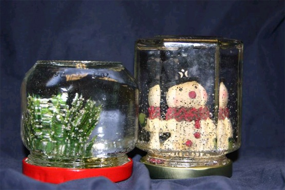 Make your own snow or water globes