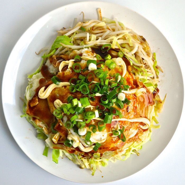 Hiroshima Okonomiyaki - with udon noodles