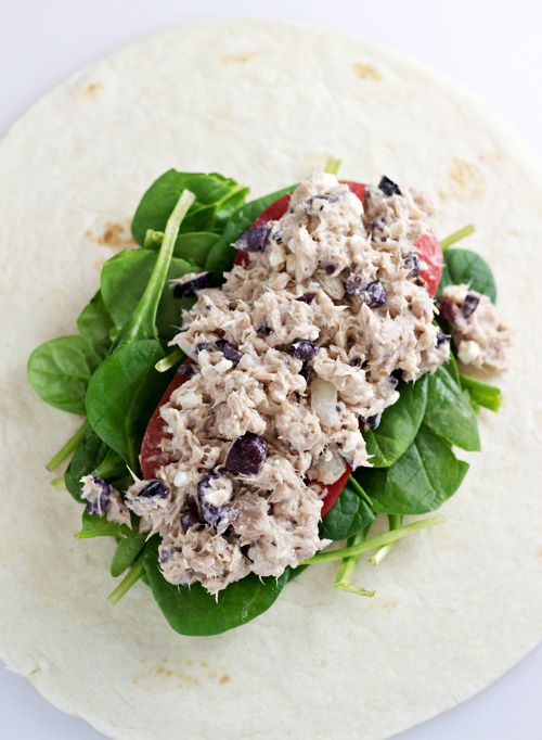Greek Tuna Salad Wrap | Recipe