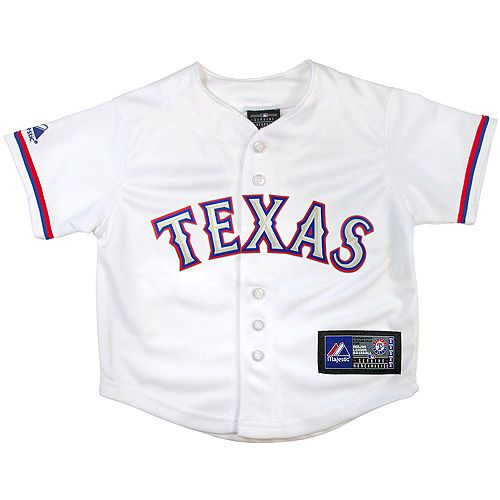 Texas Rangers Toddler Replica Home Jersey by Majestic Athletic