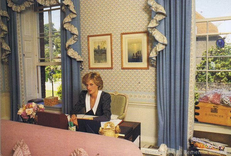 Diana In Her Sitting Room At Kp Kensington Palace