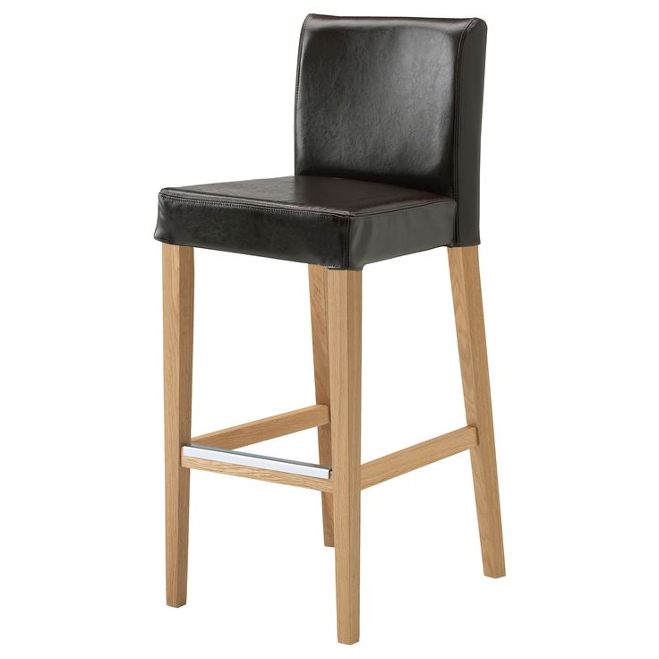 HENRIKSDAL Bar stool with backrest oakFr228sig dark brown  : ba11f0cf5ada6f283ae87a7909eecf11 from pinterest.com size 736 x 736 jpeg 27kB