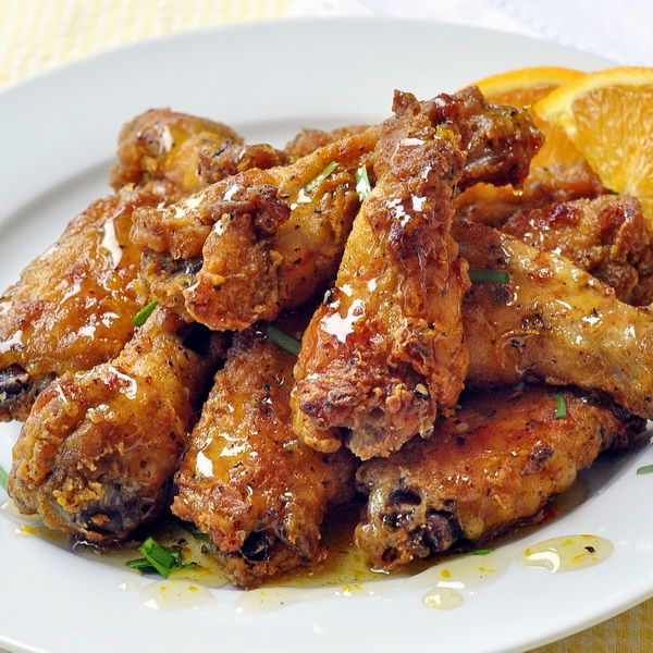 Southern Fried Chicken Wings with Orange Honey Drizzle - Crispy, oven ...
