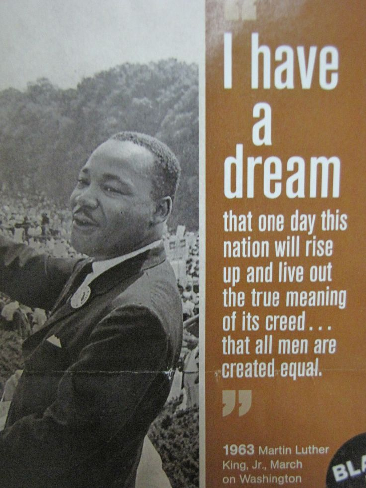 martin luther king jr i have When dr martin luther king, jr read his speech at the march on  so effective  was king in tying the memory of lincoln to the cause of civil rights that most of us .