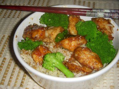 Lighter Sesame Chicken | Deliciousness | Pinterest