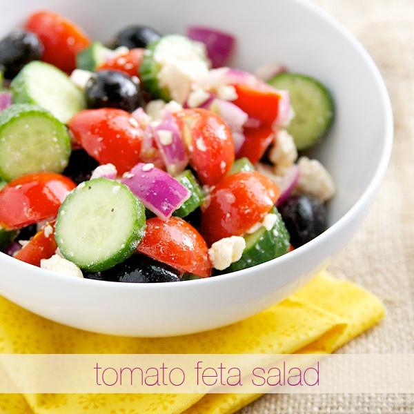 Tomato Feta Salad | Healthier eats | Pinterest