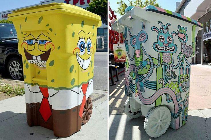Trash bin art