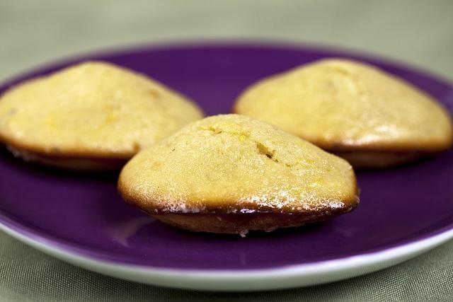 Lavender-Glazed Lemon-Thyme Madeleines
