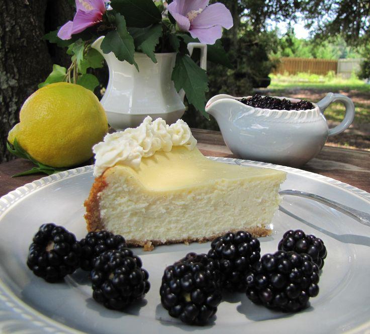 Lemon & Blackberry Cheesecake ~ Tickled Red