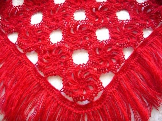 Red Shawl  Mothers Day Gift Idea  Ready To Ship  Crochet Cowl Mother's Mother's Fathers Day Crochet Ideas