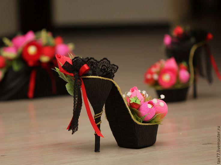 Как сделать туфли для конфет 678