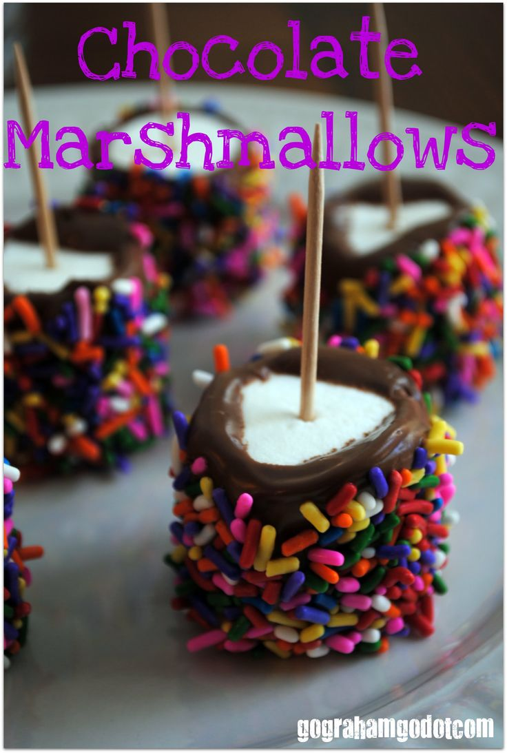 How to Make Chocolate Marshmallows with Sprinkles!