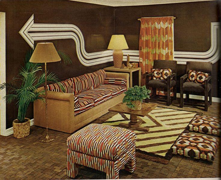 Living Room 1970 S Vintage Interiors Pinterest