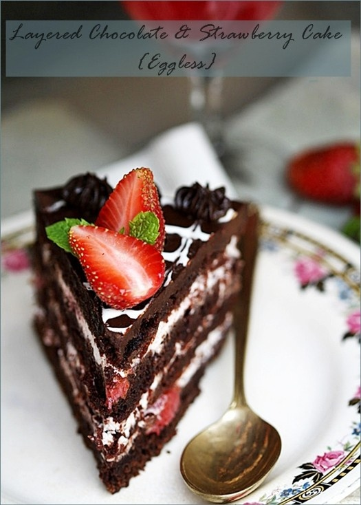Cake With Chocolate Ganache And Strawberry Filling : Pinterest