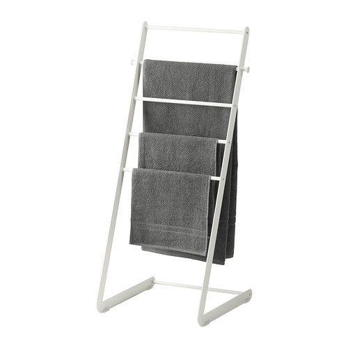 Enudden towel stand white for Porte serviette ikea