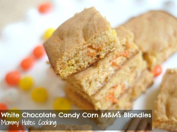 white chocolate candy corn m amp m s blondies