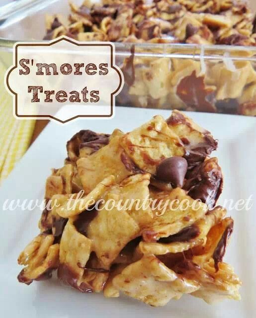 mores treats - Um! | Foods - Cookies! Bars! Brownies! | Pinterest