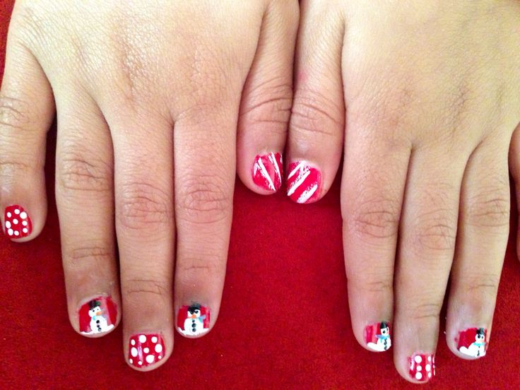 Snowman Nail For Little Girls Little Girl Nail Art Designs Pinter
