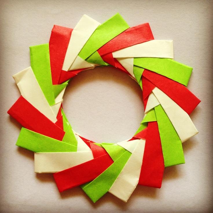 my mini christmas origami wreath origami love