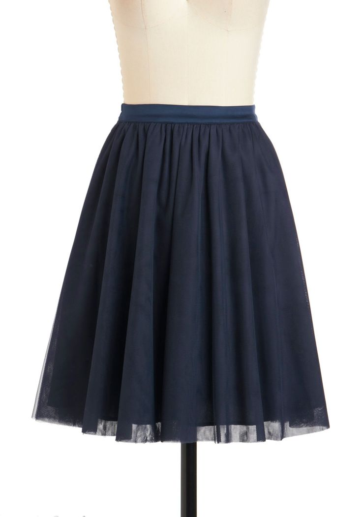 and pas seul skirt in navy