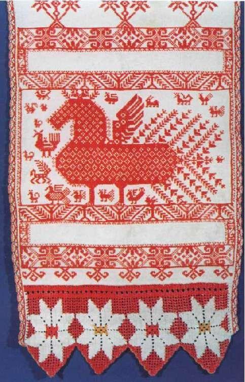 Вышивка русского полотенца 63