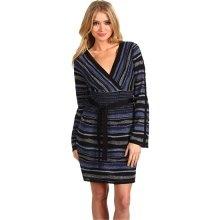 Laundry by Shelli Segal Multi Stitch V-Neck Sweater Dress Women's