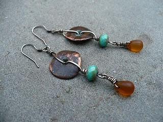 Washer and briolette earrings | Metal and Wire Work | Pinterest