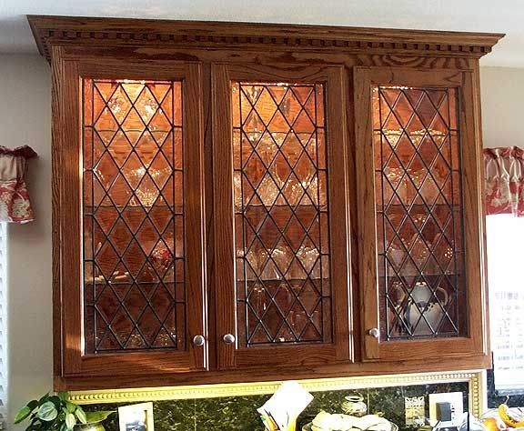 Kitchen cabinets stained glass ideas pinterest for Beveled glass kitchen cabinets