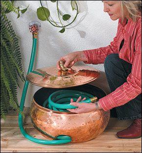 Copper Hose Storage Pot - Gardening Lee Valley