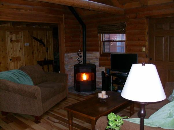 Log Cabin Family Room Basement Man Cave Pinterest