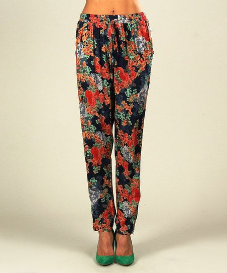 Lastest Floral Mandalas Low Cut Women39s Harem Pants In Black