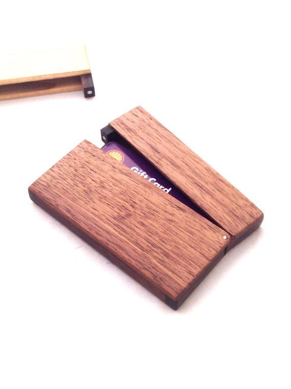 Wooden Business card holder case