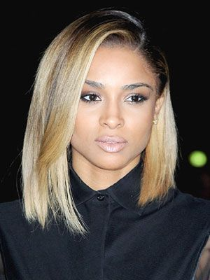 Lovely Lob  Ciara, your new cut is TDF. And your color is awesome, too. Basically you're our new hair crush.  We especially love the way this singer's lob is styled here, making it look like the front is longer than the rest of her strands.