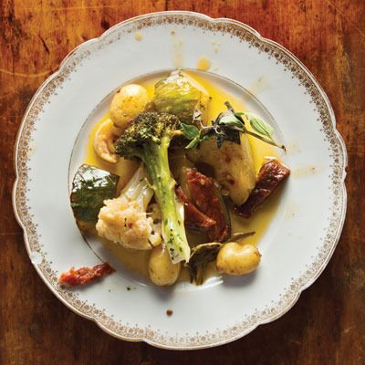 Olive Oil-Braised Vegetables by Saveur. Based on a recipe from Traci ...
